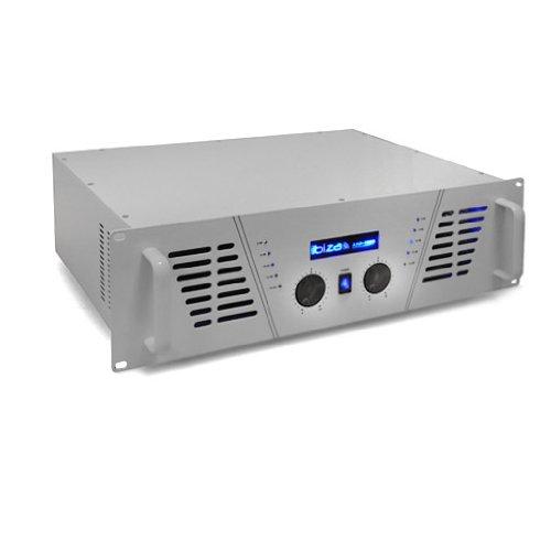 Ibiza AMP-1000 Amplificateur sono DJ - Ampli mosfet multiconnexion (1600 W max, rackable 48 cm, XLR Speakon Jack et fil)