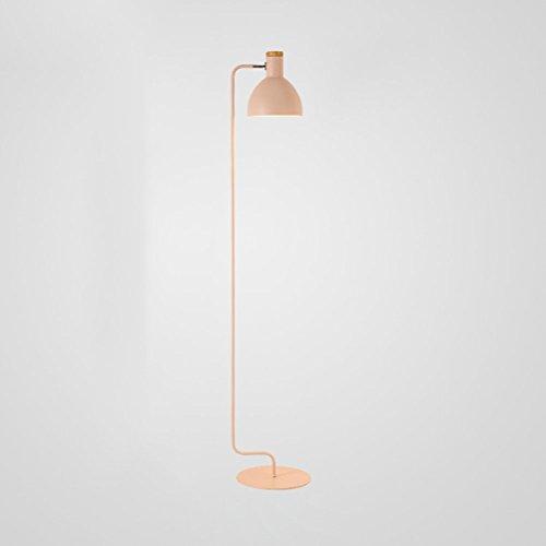 WAN SAN QIAN- Nordic Simple Creative Adjustable Floor Lamp E27 Iron Lamp Head Can Rotate Study Floor Lamp Pink 157x29cm Floor Lamp - Adjustable Shaded Floor Lamp