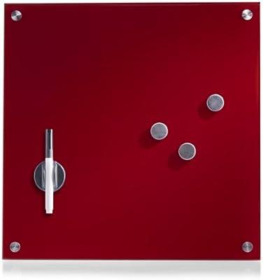 Zeller-Present - Pizarra magnética de Cristal (40 x 40 cm), Color ...