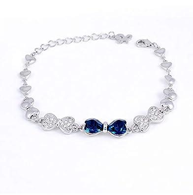 d92294dbca Swarovski Elements Women's 18K White Gold Plated Bracelet - SWR-003 ...