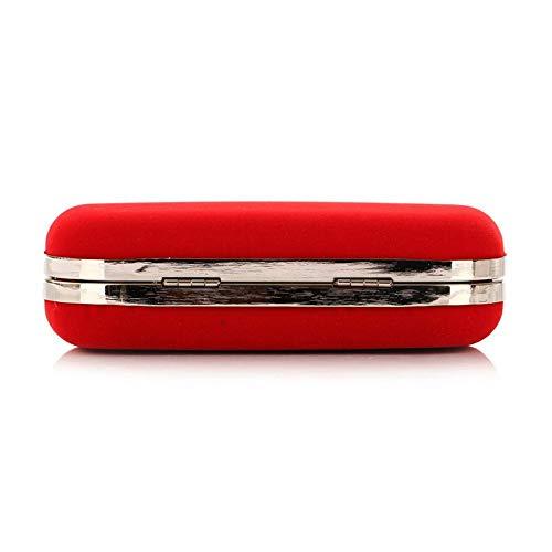 Dimensione Royalblue Velluto Pochette Rosered Borsa Unita 16 colore Per Agopo Sera Sposa Tinta Donna Tracolla A Da 5 5 9cm In tR6w8Zq