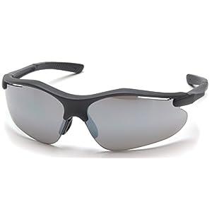 Pyramex Fortress Safety Eyewear, Silver Mirror Lens With Black Frame