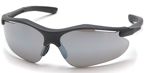 Pyramex Fortress Safety Eyewear, Silver Mirror Lens With Black - And Mirror Black Silver