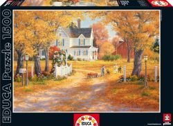 Autumn Leaves And Laughter 1500 Piece Puzzle