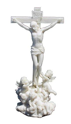 Polystone Cherub (Cherubs Tending Jesus on the Cross Statue Marble Off White Color)