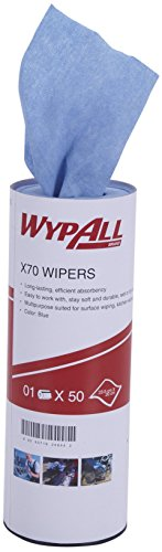 WypAll X70 Reusable Cleaning Cloth, High Absorbent and Reusable Kitchen Towel for wiping and cleaning, Pack of 50 sheet, Reusable Wiper, Blue Color Price & Reviews