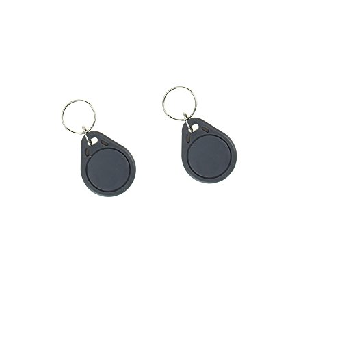 OBO HANDS (10pcs) RFID ISO MF 1443A Classic 1K Card Only Read 13.56MHz Proximity Keyfobs NFC Tag Keychain Token (Grey)