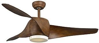 Ventilador de techo, estilo rústico/ländlich rústico Corrección Artículo eigenschaft for LED Designer metal Salón Dormitorio: Amazon.es: Iluminación