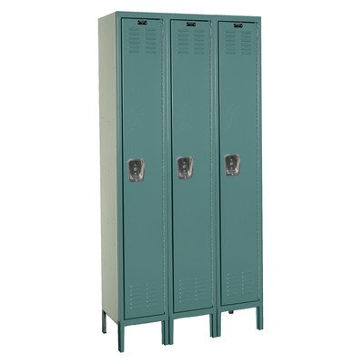Premium Stock Lockers - Single Tier - 3 Sections (Assembled) Dimensions (W x D x H): 12