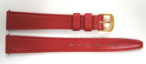 Timex 13mm Red Genuine Calf Leather Band ()