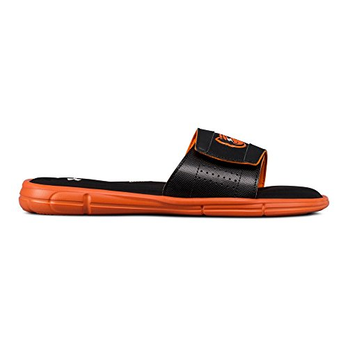 Under Armour Men's Ignite V MLB Slide Sandal, Black (001)/Team Orange, 13