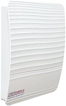 Ventilador de baño automático con obturador en T, funcionamiento silencioso gracias al motor de rodamiento de bolas, con cierre interior.