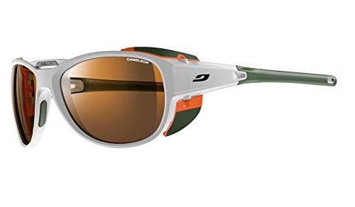 Julbo Explorer 2.0 Cameleon Lunettes de Soleil Photochromiques Homme Blanc Mat/Orange