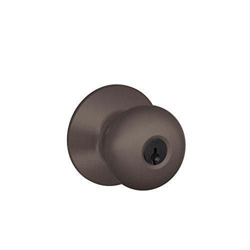 Schlage F51A PLY 613 Plymouth Knob Keyed Entry Lock, Oil Rubbed Bronze