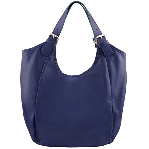 Blue Dark bag hobo Leather Dark Gina Leather Tuscany Blue qawSApWx