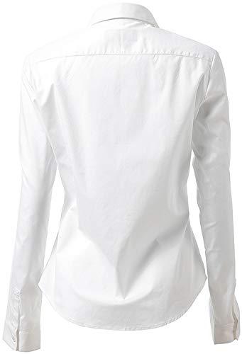 9999c421a0516 Blanco Vestir Elástica Formales De ocasiones casuales Clásico fiesta Camisa  Mujer Harrms Diseño reunion Trabajo boda ceremonia 1CqxgFEZw