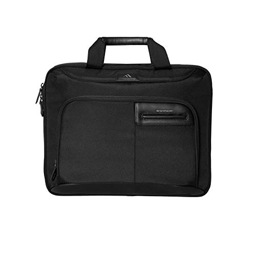 Brenthaven Elliot Slim Brief with Organizer Panel Fits 15.4 Inch Chromebooks and Laptops, for Commercial, Business and Office Essentials-Black, Durable, Rugged Protection from Impact and Compression
