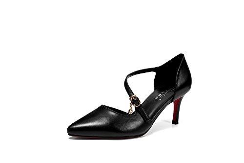 Noir Compensées EU Femme Noir 36 5 1TO9 Sandales wRptqBHwa