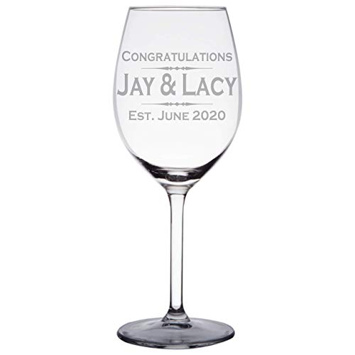 Personalized Engraved Wine Glass with Any text, Handmade Custom Wine Glass with Stem, WG04 (Personalized Glasses Red Wine)