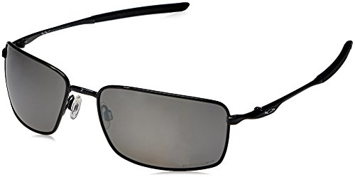 Oakley Men's Metal Man Sunglass Rectangular, Polished Black, 60 mm