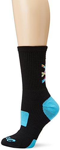 ASICS Flash Point Socks, Black/Atomic Blue, Small