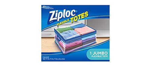 Ziploc Flexible Totes,Jumbo 2 FT 2 IN x 1 FT 4 IN x 1 FT, 22 Gallon, 1 Count