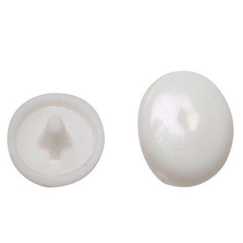 White Plastic Screw Caps - 6