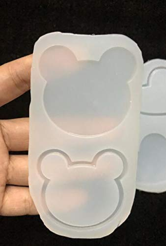 DalaB Resin Heart Bear Shaker Maple Leaf Water Injection Double Side Transparent Silicone Molds Jewelry DIY Tool Handmade Crown Charms - (Color: Bear)