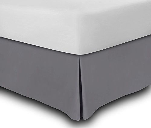 Bed Skirt Hotel Quality, Iron Easy, Quadruple Pleated , Wrinkle and Fade Resistant by Utopia Bedding (Queen, Grey)