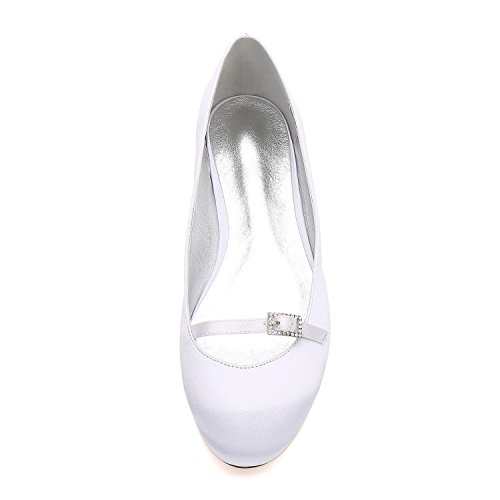 L@YC Frauen 5049-21 Satin Prom Wedding Bridal Sandalen Damen Low Heel Party Schuhe Purple