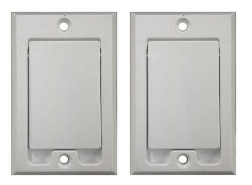 PartsBlast (2) White Standard Central Vacuum Wall Valve Inlet for Built In Vacuums
