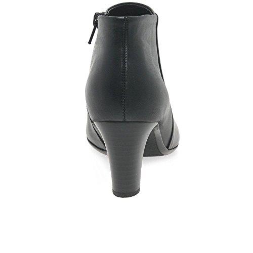 Moderne Bottines Womens Noir Ondulation Minimale Glissière Gabor Latérale à fZUxwq