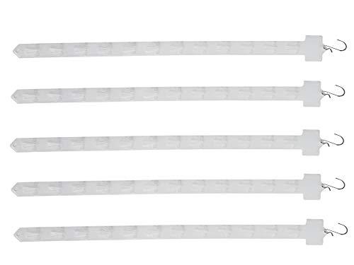 FixtureDisplays 5PK Hanging Merchandising Strip Display Plastic Clip Strips101727 101727