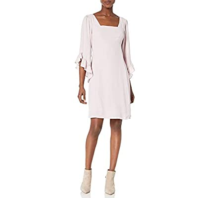 James & Erin Women's Caftan-Sleeve Square-Neck Dress: Clothing