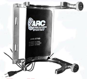 Billet Bottle Brackets - ARC AHV-10-AD AC & DC volts HEATED Nitrous bottle billet anodized Single bracket Vertical mount