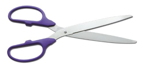 """36"""" Purple/Silver Ceremonial Ribbon Cutting Scissors for Grand Openings"""