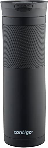 Contigo SnapSeal Byron Vacuum Insulated Stainless Steel Travel Mug, 24oz, Matte Black