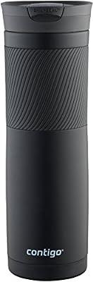 Contigo SNAPSEAL Byron Travel Mug 24oz Matte Black Stainless Steel Insulated Cup