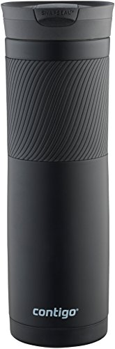 Contigo Snapseal Byron Stainless Steel Travel Mug, 24 oz., Matte Black (Mug Coffee Metal Black)