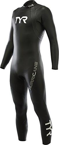 TYR  Men's Hurricane Wetsuit Category 1, Black/White, - Triathlon Wetsuit