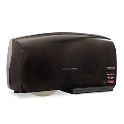 "Scott Essential Coreless JRT Twin Toilet Paper Dispenser (09608), High Capacity, Durable, 20"" x 6"" x 11"", Smoke (Black)"