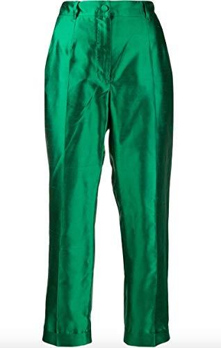 - Dolce e Gabbana Women's Ftbdatfu1l5v0237 Green Silk Pants