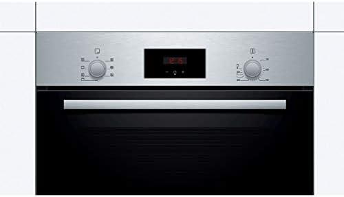 // 59.4 cm//Klappt/ür//Bedienung mit LED-Display Bosch HBA533BB1 Backofen Elektro//Einbau