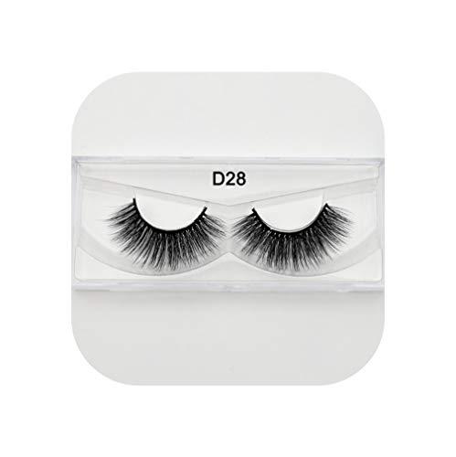 - 3D Silk Eyelashes Handmade Full Strip Lashes Thick False Eyelashes Makeup Silk Eye Lashes 3D Ipek Kirpik Silk Lashes,Silk D28