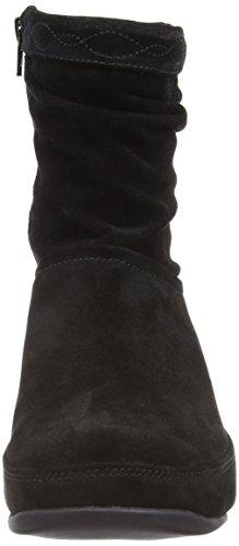 Fitflop Women's Black Suede Crush Zip Boots PqTrP4zv