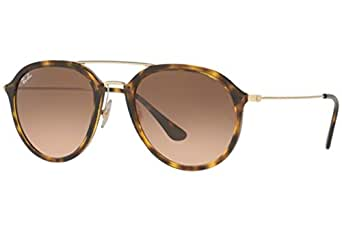 Ray-Ban Injected Unisex Square Sunglasses, Havana, 50 mm