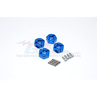 GPM Tamiya TT-01 Upgrade Parts Aluminum Wheel Hex Drive Adaptor with Pins & Screws - 4Pcs Set Blue: Toys & Games