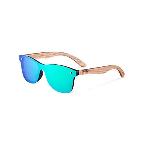 MIAROZ Gafas de Sol Polarizadas Hombre y Mujere, UV400 Protection, Gafas Ligeras con Patillas de Madera a buen precio