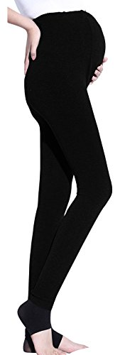 Sindy Women' s Super Soft Maternity Leggings Winter Tights with Open Toe (Free Size, Black)
