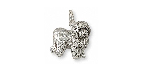 Old English Sheepdog Jewelry Sterling Silver Old English Sheepdog Charm Handmade Dog Jewelry OE3-C